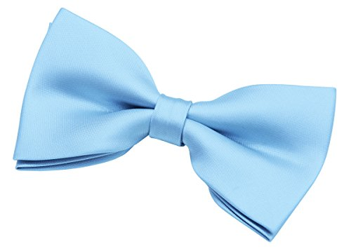 Woven Solid Color (Retreez Men's Solid Plain Color Woven Microfiber Pre-tied Bow Tie (5