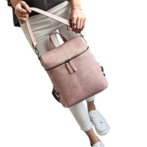 Backpacks Women's Bag Pu Student School Rivets Pink Fashionable Casual Simple Leather Shoulder Double wttrqP