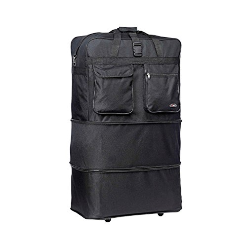 """30"""" Rolling Wheeled Duffle Bag Spinner Suitcase Luggage Expa"""