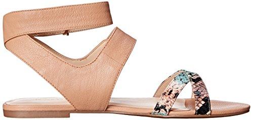 Darcelle la sandalia Natural cuero de Multi de West del Natural Nine vestido Light q0w58np