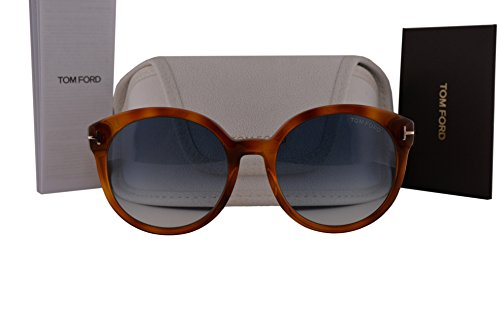 Tom Ford FT0503 Philippa Sunglasses Blonde Havana w/Blue Gradient Lens 53W - Men James Bond Tom Sunglasses Ford