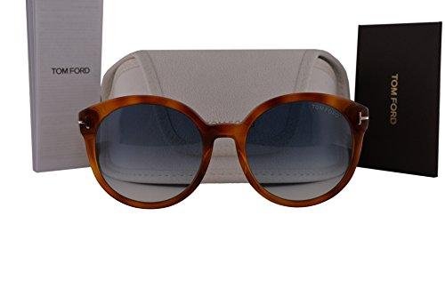 Tom Ford FT0503 Philippa Sunglasses Blonde Havana w/Blue Gradient Lens 53W - James Sunglasses Tom Ford Bond