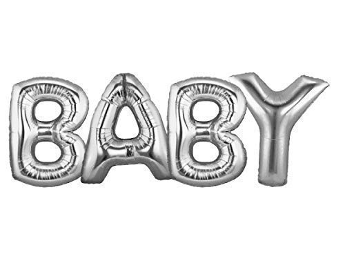 Baby 40 Inch Silver Large Helium Balloons Decorations,Foil Balloon Baby Shower Balloon,Party Balloon,Party Decoration,Party Supplies