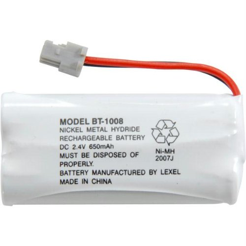 Uniden Rechargeable Phone Battery, Nickel Metal Hydride NiMH, DC 2.4V, 650mAh (BT-1008) (Uniden D1680 Cordless Phone)