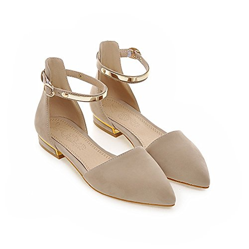 SexyPrey Women's Pointed Toe Ankle Strap Ballet Shoes Low Heel Casual Dress D'orsay Court Shoes Nude CgQIk1y0Y
