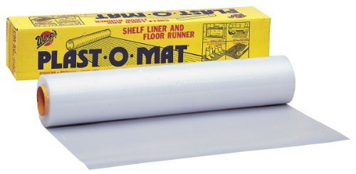 Warp Brothers PM-50-W Opaque White Plast-O-Mat Ribbed Flooring Runner Roll, 30-Inch by 50-Foot (Liner Opaque)