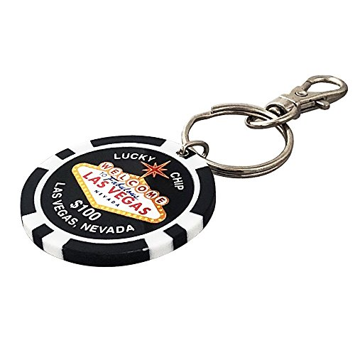 Las Vegas Key Chain, Lucky Poker Chip $100