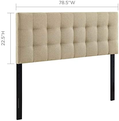 Modway Lily Tufted Linen Fabric Upholstered King Headboard