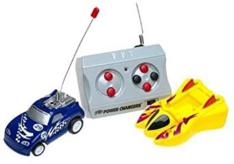 TYCO Remote Control Power Changers-Blue Car-Yellow Boat-49 MHZ