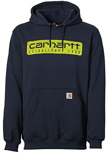 ight Wood Plank Hoodie (Navy, L) (Carhartt Chest Pocket Sweatshirt)