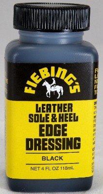 Fiebing's Leather Sole & Heel Edge Dressing - Shoe Shine Finish - Black - 4 oz