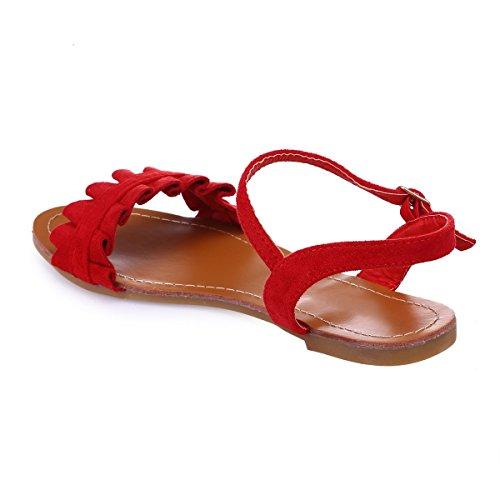 Sandales La Rouge en Froufrous à suédine Modeuse nbsp;Bride nbsp;d'une nbsp;munies v5qg5xUw