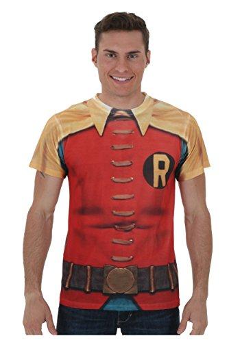 Batman Classic TV - Robin Costume (Front/Back Print) T-Shirt Size L]()