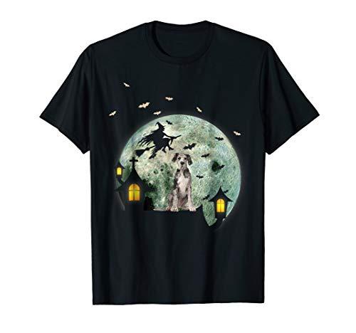 Great Dane Dog And Moon Halloween T-Shirt