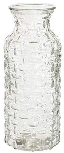 Grande Cristal Boca Ancha Botella Jarrón Forro de Tela Estilo Vidrio Transparente/Garrafa la Jarra