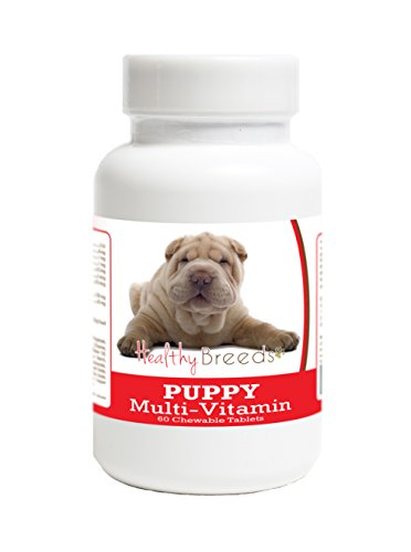 Healthy Breeds Multivitamin for Puppy Dogs for Chinese Shar Pei - Over 100 Breeds - Veterinarian Formulated Daily Dietary Supplement - Liver Flavored Treats - 60 Chews