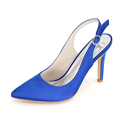 L@YC Women Wedding Shoes Comfortable / High Heels / Wedding & Satin Evening Dress 0608-20 Large Yards Blue
