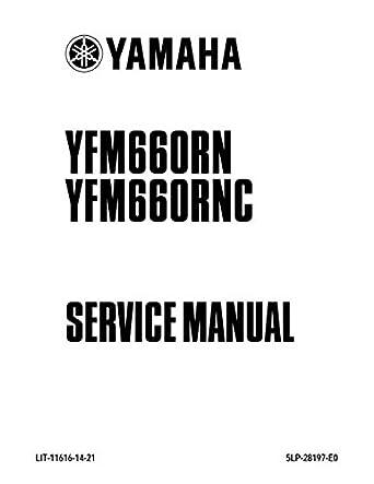 amazon com yamaha raptor 660 yfm600rn rnc 2001 service manual rh amazon com yamaha raptor 660 service manual 2003 yamaha raptor 660 service manual
