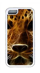 The Amur Leopard Masterpiece Limited Design DIY Case for iPhone 5C TPU White by Cases & Mousepads