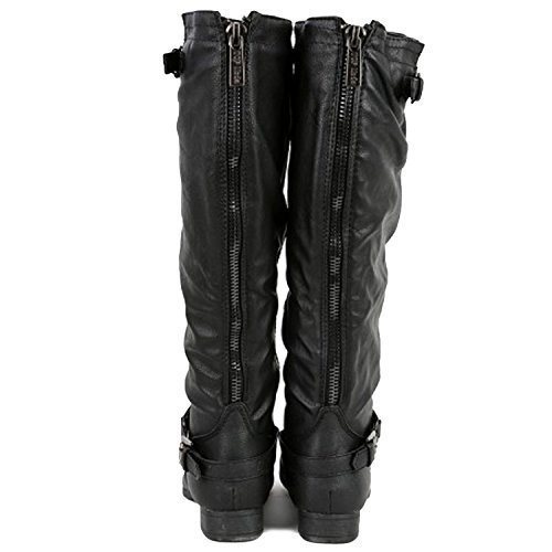 High Top 1 Black Riding Knee Boot Women's Moda COCO nfBwX4Sn