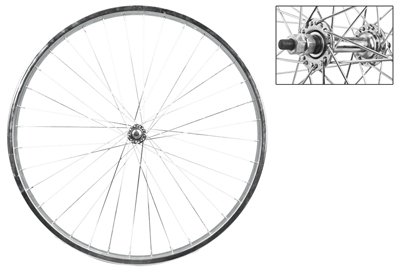 Wheel Master Front Bicycle Wheel 26 x 1.75/2.125 36H, Steel, Bolt On, Silver, 5/16""