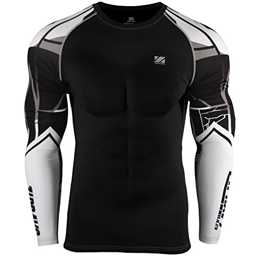 Zipravs Unisex Compression Tight Shirt Longsleeve Running Baselayer,Zcds-82,Small (Tights Compression Unisex)