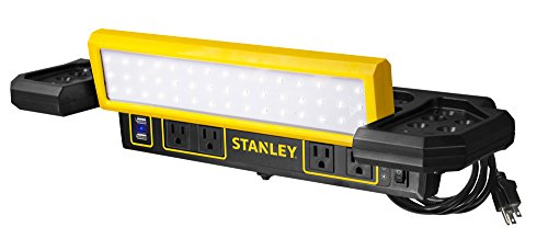 STANLEY WLB40PS Workbench LED Shop Light with Power Station Strip
