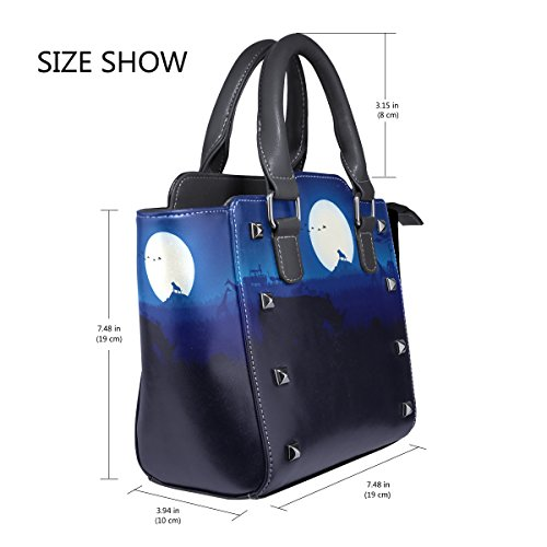 PU Bags Leather Landscape Single Top Handbags Crossbody Tote Messenger Night Handle Women Forest Bag Animal For Shoulder LIANCHENYI Africa daq5wndB