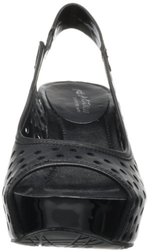 Kenneth Cole Reaction Soley Roller 3 de la mujer sandalias de cuña Black