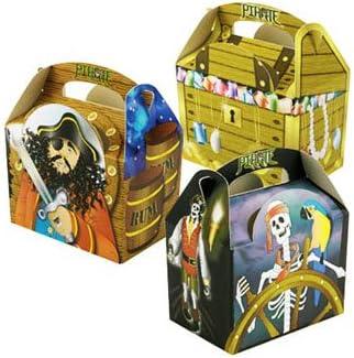 250 cajas de cartón Deli Supplies de almuerzo de pirata para fiesta infantil: Amazon.es: Hogar