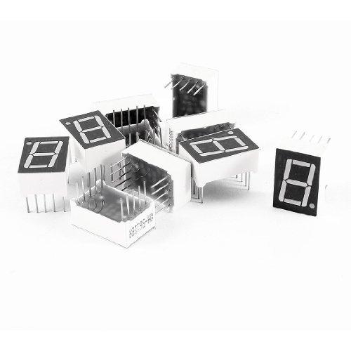 10個レッドは10ピンDIP 1BIT 1桁共通アノードデジタルチューブ0.56をLED B06XSSRC3G