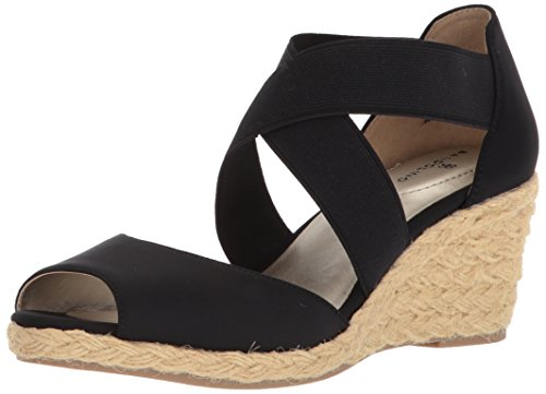 Bandolino Women's Hullen Sandal, Black, 8.5 M US