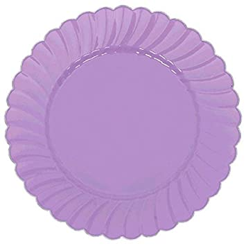 Scalloped Premium Plastic Plates with Metal Trim Spring Party Reusable Tableware (20 Pieces)  sc 1 st  Amazon.com & Amazon.com: Scalloped Premium Plastic Plates with Metal Trim Spring ...