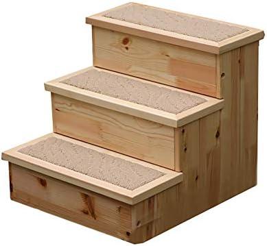 WYDM Wood Dog Stairs 3 Step Cat Steps para Cama, Escalera para Mascotas pequeñas Escalera para sofá, Carga máxima: 20 Kg: Amazon.es: Hogar