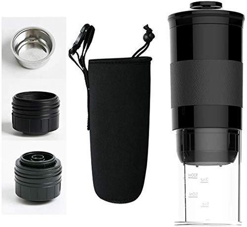 NLRHH Cafetera portátil, máquina de café de café Espresso Manual Compatible con cápsula de café molido Minipresso para…