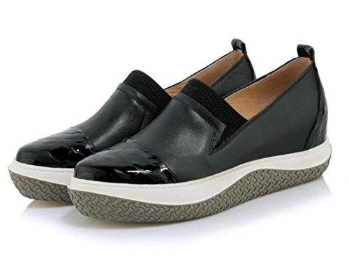 Black con strappy primavera Sra los y de los La zapatos zapatos señora otoño zapatos planos aumentaron zapatos la FTCwBq1
