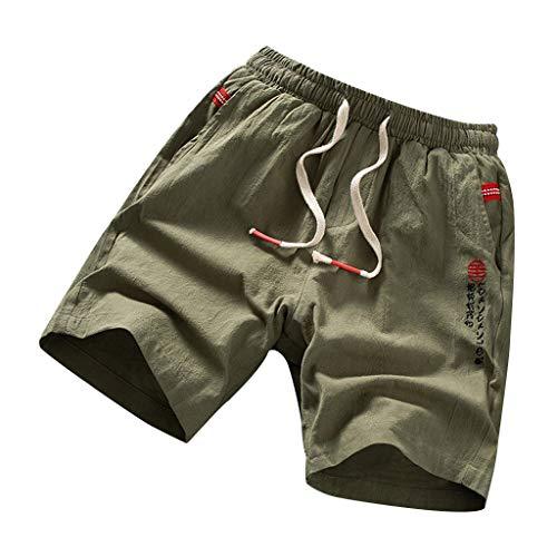 - YAYUMI Quick Dry Beach Shorts Pants Swim Trunks Mens Swimsuit with Pockets Army Green