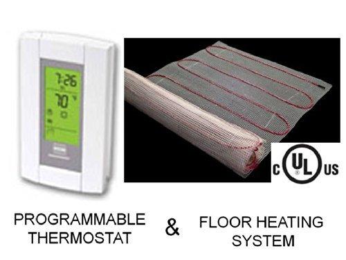 10Sqft alfombrilla, Eléctrico piso radiante sistema de calefacción de calor con Aube termostato piso Sensor Digital