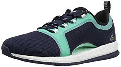 adidas Originals Women's Shoes | Pure Boost X TR 2 Cross-Trainer, Collegiate Navy/Black/Easy Green, (7 M US)