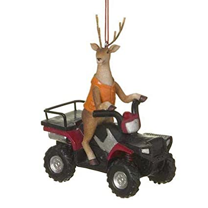 6ef6e06a99696 Amazon.com: Deer Hunter Buck on ATV Four Wheeler Resin Stone Christmas Tree  Ornament by Midwest-CBK: Home & Kitchen
