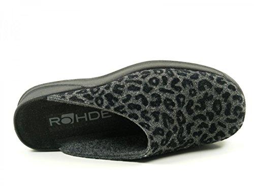 RohdeVaasa D - Zapatillas de Estar Por Casa Mujer Gris - Gris (Anthracite)