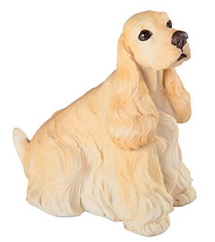 StealStreet SS-G-18102 Yellow and Cream Cocker Spaniel Sitting Puppy Dog Painted (Cocker Spaniel Sculpture)