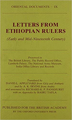 Letters from Ethiopian Rulers (Oriental Documents IX)