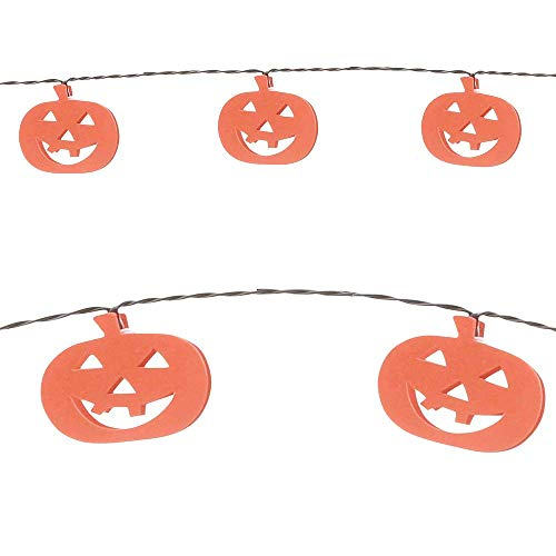 HollyDel Jack-o'-Lantern LED String Lights Scary Halloween Outdoor Decorations!