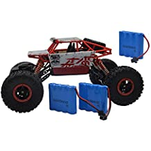 Blomiky C181 1:18 Scale 4WD High Speed Red Toy RC Cars Electric Buggy Hobby Off-Road RC Truck Vehicle Extra 2 Battery C181 Red