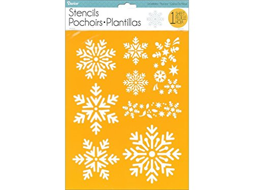 Darice Stencil 8.5x11 Snowflakes