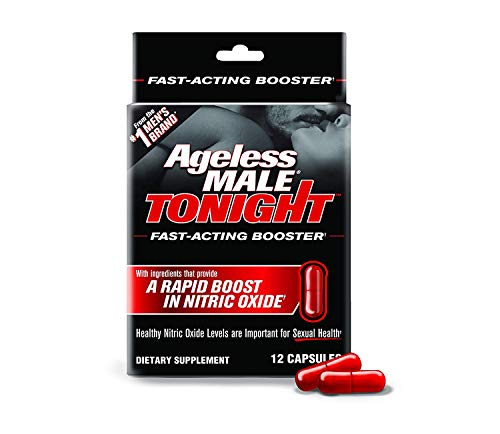 Ageless Male Tonight Total Rapid Sexual Performance Enhancement Supplement & Nitric Oxide Booster by New Vitality (12 - Enhancement Male Plus