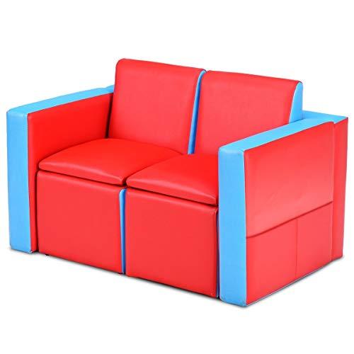 Amazon.com: Juego de mesa de sofá multifuncional de piel de ...