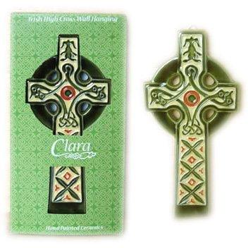 Cross Ceramic Celtic - Celtic Cross Hand Painted Ceramic Wall D_cor Irish Symbol