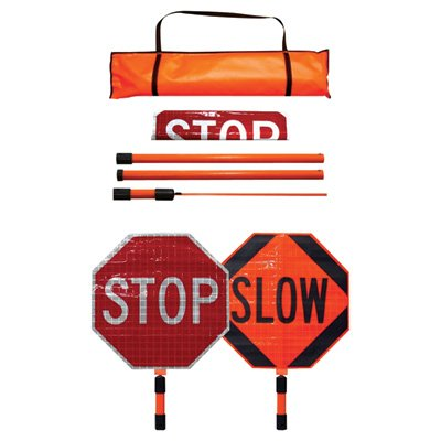 stop and slow sign with handle - 7
